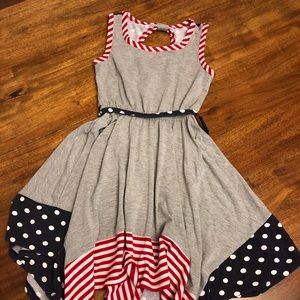 Bonnie Jean patriotic handkerchief dress size 8